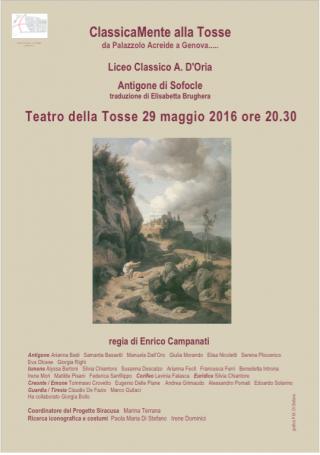 Antigone, Teatro della Tosse, 29 maggio 2016